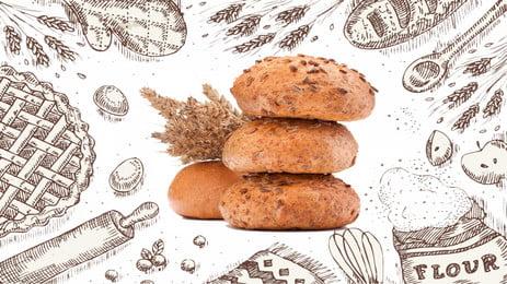 簡約麵包全麥健康飲食海報背景 簡約 麵包 創意合成 手繪 全麥 健康 飲食 海報 背景 簡約麵包全麥健康飲食海報背景 簡約 麵包背景圖庫