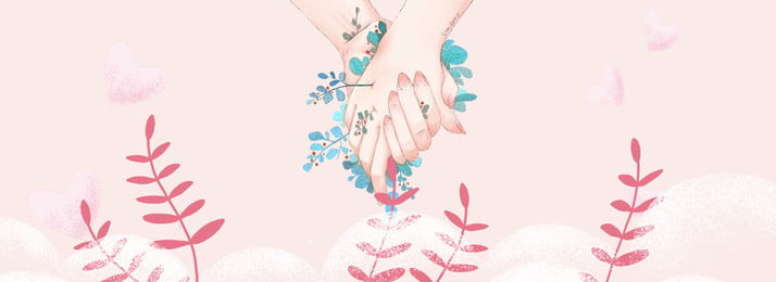 simple literary fresh hand painted, Hand, Handshake, Pink Background image