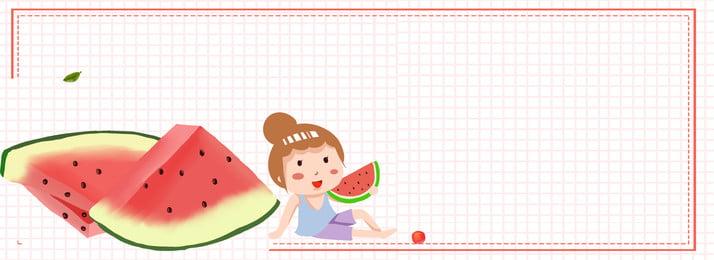 クールな夏ピンクフルーツ夏のポスターの背景 夏 涼しい夏 小さな女の子 夏の果物 化粧品 離れて言う 夏の日の出 こんにちは夏 小さな暑さ, 夏, 涼しい夏, 小さな女の子 背景画像