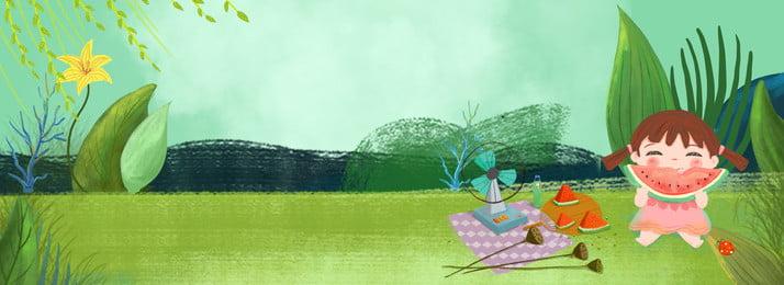 夏の新しい新鮮な女の子野生ロバグリーンの背景 夏 涼しい夏 小さな女の子 夏のピクニック 離れて言う 夏の日の出 こんにちは夏 夏至, 夏の新しい新鮮な女の子野生ロバグリーンの背景, 夏, 涼しい夏 背景画像