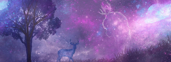 星空ヘラジカ少女真夏の夜の夢のバナーの背景 夏 美しい 真夏の夜の夢 星空 少女 漫画 プロパガンダ エルク バナーポスター 広告宣伝 バックグラウンド, 星空ヘラジカ少女真夏の夜の夢のバナーの背景, 夏, 美しい 背景画像