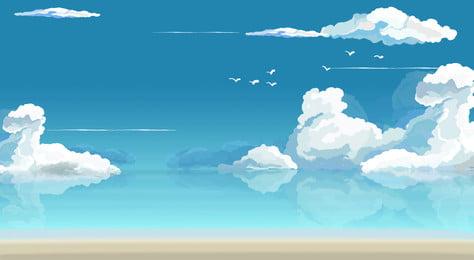 Beach Vacation Sea 背景画像