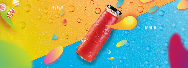 summer cool drink fruit juice bubble, Cool, Poster, Yellow Background image