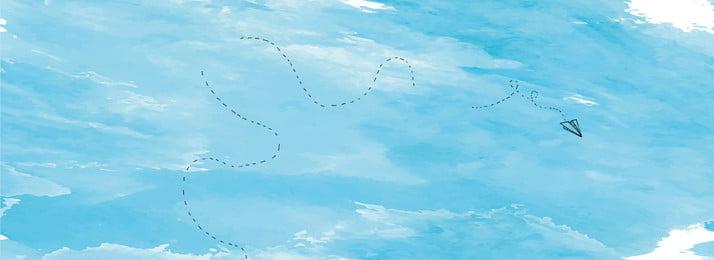 夏日清新藍天放飛夢想的飛機海報 夏日 清新 藍天 藍色 夢想 飛機 海報 壁紙 招生, 夏日, 清新, 藍天 背景圖片