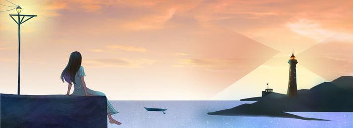 सुंदर गर्मियों के समुद्र तटीय दौरे पोस्टर पृष्ठभूमि गर्मी लुकआउट टॉवर समुंदर के, किनारे, टॉवर, समुंदर पृष्ठभूमि छवि