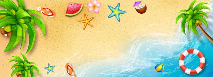 समर ओशन बीच पोस्टर बैनर गर्मी सागर रेतीले समुद्र तट यात्रा यात्रा प्रचार पोस्टर विज्ञापन बैनर, गर्मी, सागर, रेतीले पृष्ठभूमि छवि