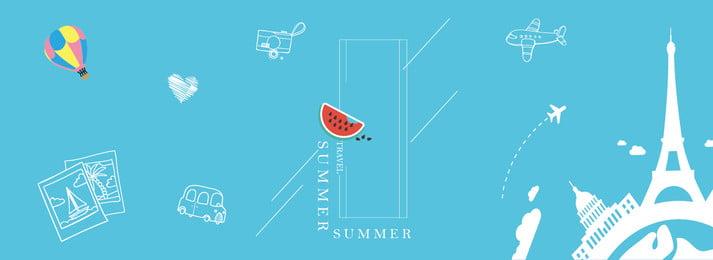 狂暑季夏季旅遊簡約banner 夏季特惠 夏季 旅遊 夏日 狂暑季, 夏季特惠, 夏季, 旅遊 背景圖片