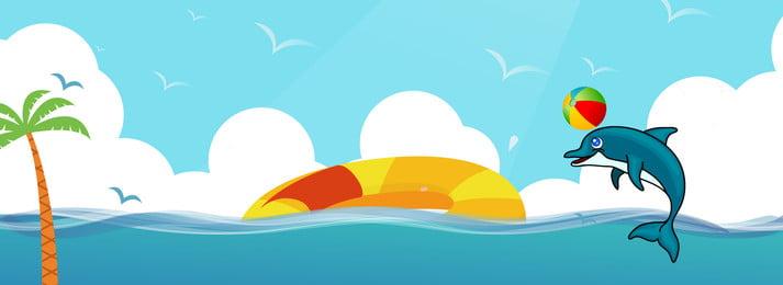 Biểu ngữ du lịch mùa hè mùa hè tươi mát Mùa hè Tour du Mùa Biển Sóng Hình Nền