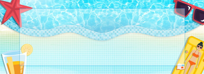 summer swimming pool party bikini girl, Beach, Blue, Banner Background image