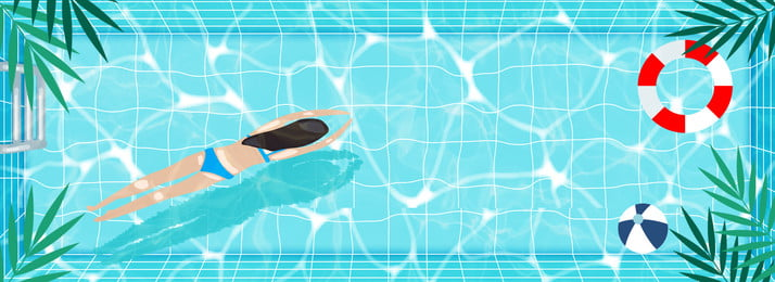 summer swimming pool swim blue, Banner, Swimming Ring, Fresh Summer Background image