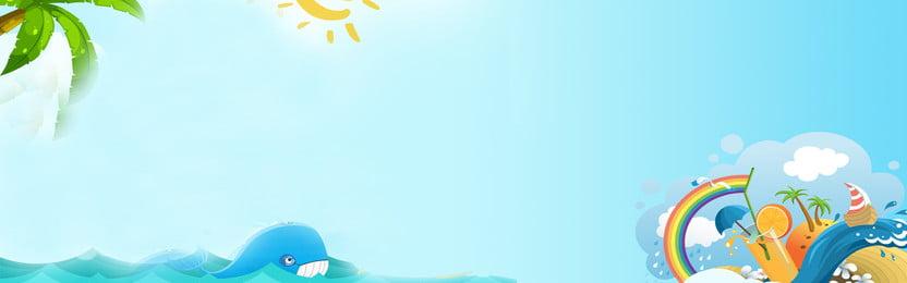 kỳ nghỉ hè hấp dẫn mùa hè khuyến nghị du lịch mùa hè quảng cáo du lịch, Tour Du Lịch Mùa Hè, Poster Du Lịch, Tờ Rơi Du Lịch Ảnh nền