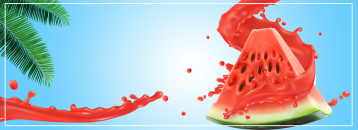Summer Watermelon Fruit Drink, Propaganda, Poster, Ad, Background image