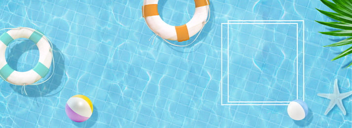 swimming pool summer summer full screen poster background, Poster Background Illustration, Summer Background, Pool Background Background image