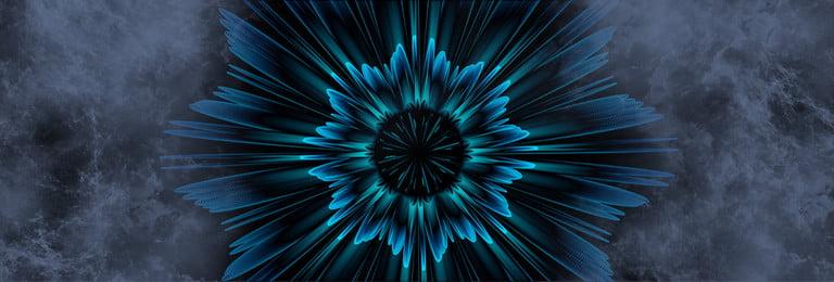 3d花の質感のバナー テクスチャ 科学技術 3dの花 黒 バックグラウンド バナー, テクスチャ, 科学技術, 3dの花 背景画像