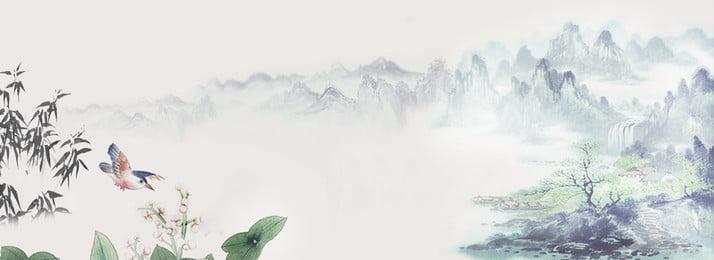 傳統清新山水banner背景 傳統 清新 山水 banner 背景 鳥 水墨 竹子 水 植物 清新 傳統 清新 山水背景圖庫