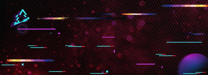 クールラインアートのインターネット技術のバナー 振動風 かっこいい 黒 夏の季節 振動風 かっこいい 黒 カーニバル 代替案 ファッション ラインアート インターネット, 振動風, かっこいい, 黒 背景画像