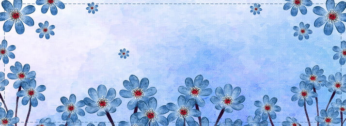 Watercolor Hand Painted Plant Flower, Shading, Fresh, Fashion, Background image