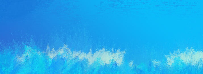 watercolor splash ocean blue background, Water Flower, Wave, Underwater World Background image