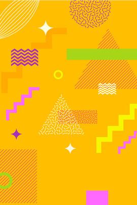 웨이브 소재 불규칙한 기하학 패션 트렌드 포인트 라인 포인트 라인 불규칙 , 배경 장식, 노란색 배경, 파도 재료 배경 이미지