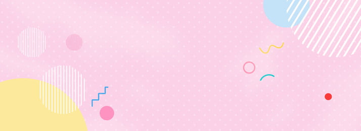 wave point pink shading banner, Mother And Baby, Child, Cartoon Background image