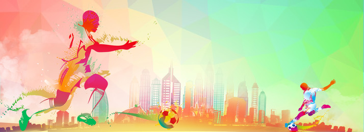 world cup football game colorful, Gradient, Simple, Hand Painted Background image