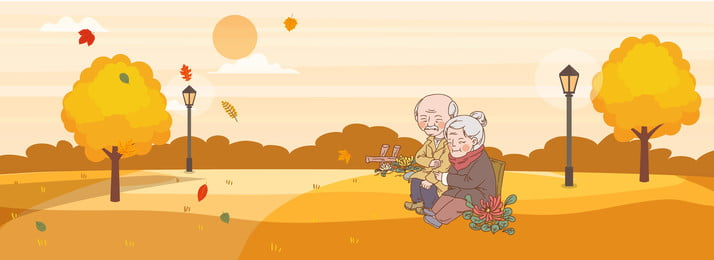 10 17 Double Ninth Festival Background Chongyang, Old Man, Chrysanthemum, Field, Background image