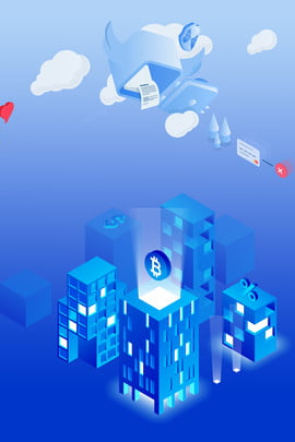 2 5d 야경 기술 도시 2 5d 기울기 블루 자주색 배경 기술 정보 단순한 만화 , 2.5d, 기울기, 블루 배경 이미지