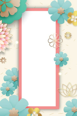 3d poster design 3d fashion atmosphere , Three-dimensional Flower, Psd Layering, Ad Background image