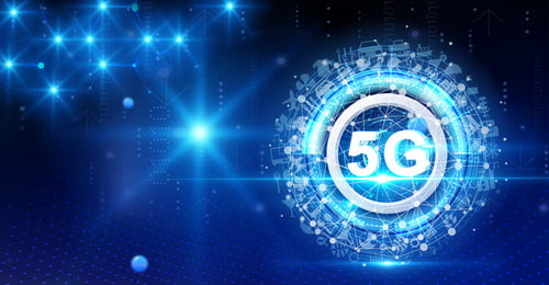 5g Era 5g The Internet Technology, Technology, Blue, Mobile, Background image