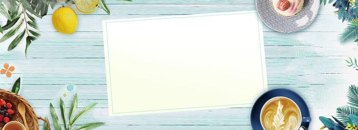 Послеобеденный чай синий зеленый фон литературный плакат баннер фон Послеобеденный чай Синий зеленый, с, чай, Синий Фоновый рисунок