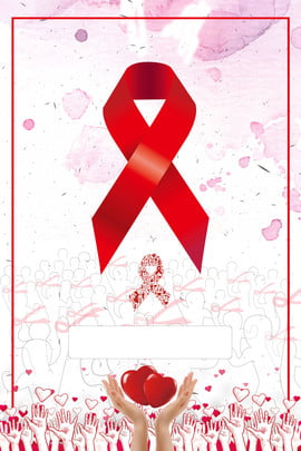 aids prevention of aids caring for the elderly red aids ribbon , Public Posters, Red Charity, Aids Poster Background image