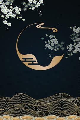 고풍스러운 청색 금 문학적 꽃 배경 고대 스타일 블루 금 문학 꽃 배경 파란색 배경 블루 , 스타일, 블루, 금 배경 이미지