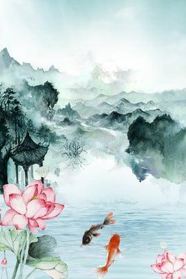 रचनात्मक सिंथेटिक पुरातन पृष्ठभूमि प्राचीन शैली स्याही काप कमल का , तालाब, तालाब, कमल पृष्ठभूमि छवि
