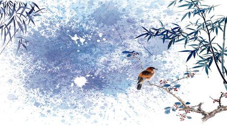 고대 스타일 신선한 잉크 대나무 배경 고대 스타일 전통 잉크 튀김 신선한 고전적 대나무 배경 포스터, 스타일, 전통, 잉크 배경 이미지
