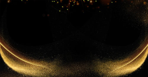 atmosphere gold powder background black gold golden particle, Business, Annual Meeting, Gold Powder Background image