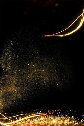 atmosphere gold powder background black gold golden particle , Business, Annual Meeting, Streamer Background image