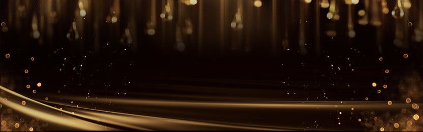 banner perniagaan emas hitam atmosfera suasana serbuk emas sejuk emas kilat hitam emas mesyuarat, Tahunan, Parti, Upacara imej latar belakang