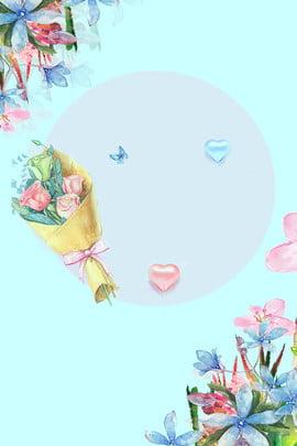 八月你好藍色清新手繪花卉廣告背景 八月 你好 藍色 清新 手繪 花卉 廣告 背景 藍色背景 , 八月, 你好, 藍色 背景圖片