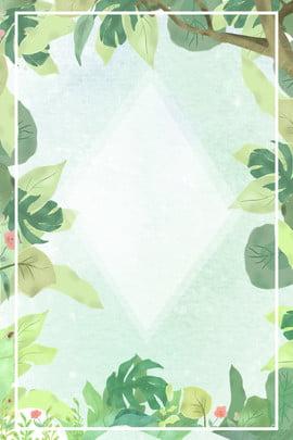 八月你好文藝清新綠色葉子廣告背景 八月 你好 文藝 清新 綠色 葉子 廣告 背景 葉子背景 , 八月, 你好, 文藝 背景圖片
