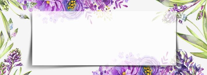 八月你好文藝紫色花卉banner背景 八月 你好 文藝 紫色 花卉 banner 背景 文藝背景, 八月你好文藝紫色花卉banner背景, 八月, 你好 背景圖片