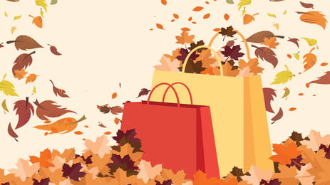 autumn big sale ad background, Poster, Maple Leaf, Package Background image