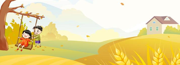 Cartoon banner mùa thu nền Mùa thu mới Mới Mới Mới Cartoon Hình Nền