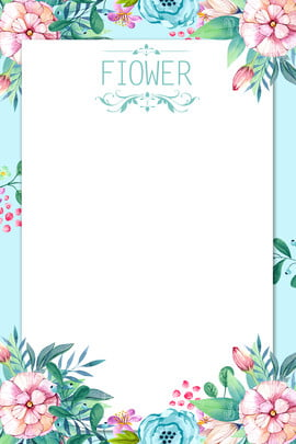 Background Material Flower Flowers Blue Background, Hand Painted Flower, Watercolor, Summer, Background image