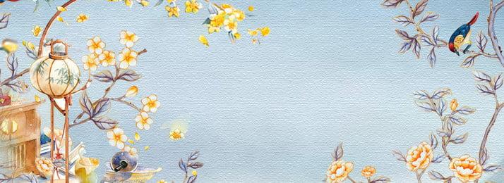 latar belakang wanita bunga purba yang cantik cantik gaya kuno bunga latar belakang, Cina, Lampu, Belakang imej latar belakang