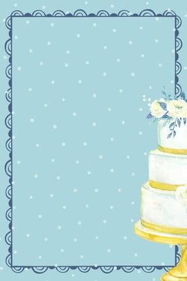 Fundo sintético criativo Linda Cake Bênção Fronteira Ponto de onda Azul Flor Ilustração Simples Linda Cake Bênção Imagem Do Plano De Fundo