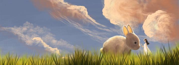 早春の美しい服にワンダーランドの新アリス 美しい 夢 早春 衣服 旅行する キャラクター 動物 shangxin イラストレーターのスタイル バナー, 早春の美しい服にワンダーランドの新アリス, 美しい, 夢 背景画像