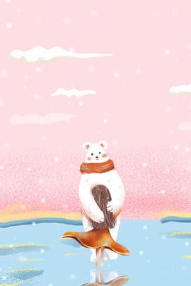 아름 다운 소녀 포유 동물 여행 포스터 아름다운 소녀 동물 자연 여행 의류 일러스트 레이터 스타일 , 아름다운, 소녀, 동물 배경 이미지