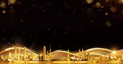 teknologi weimei black gold city latar belakang cantik teknologi emas hitam latar belakang, Laut, Warna, Sejuk imej latar belakang