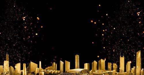 teknologi weimei black gold city latar belakang cantik teknologi emas hitam latar belakang, Hitam, Latar, Cantik imej latar belakang