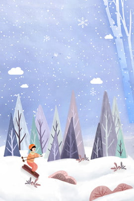 Snowing Snowflake Ski Hình Nền
